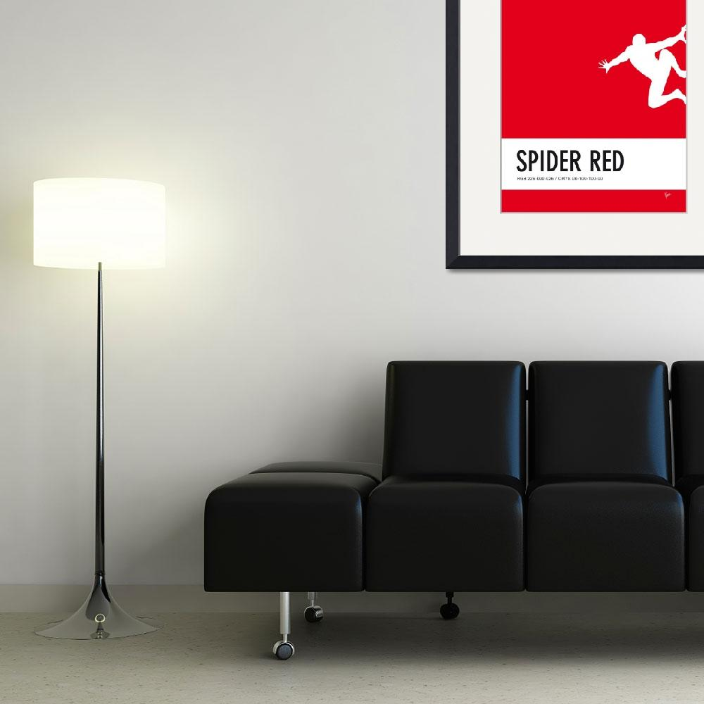 """No24 My Minimal Color Code poster Spiderman&quot  by Chungkong"
