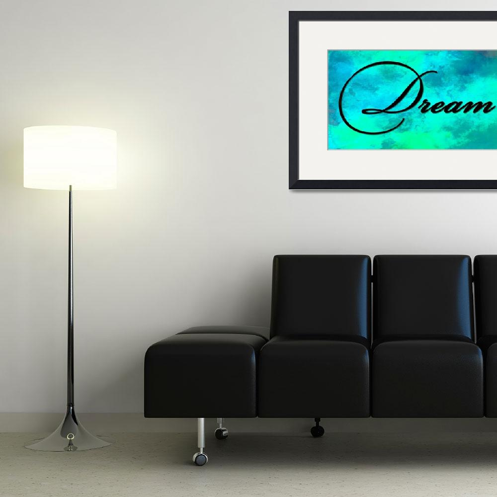 """""""dream black on teal&quot  by lizmix"""