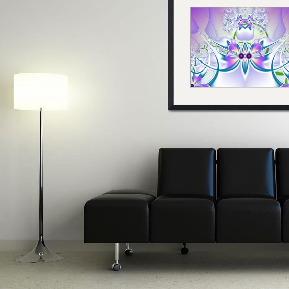 """""""Violet flowers fractal""""  (2014) by igorsingallery"""