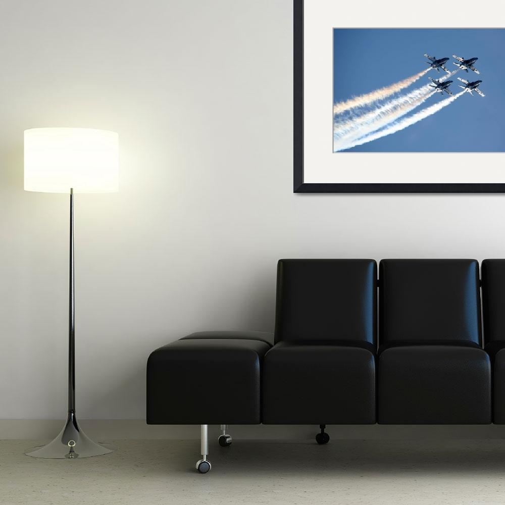 """Blue Angels Diamond Formation""  (2010) by DonnaCorless"