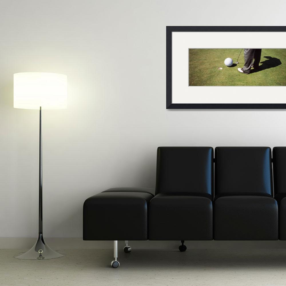 """""""Low section view of a golfer playing golf&quot  by Panoramic_Images"""