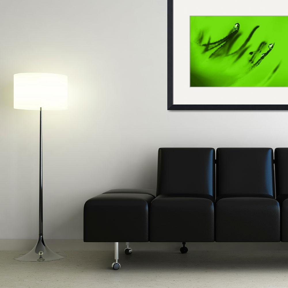 """""""Water Droplets Abstract in Lime Green&quot  (2009) by NatalieKinnear"""