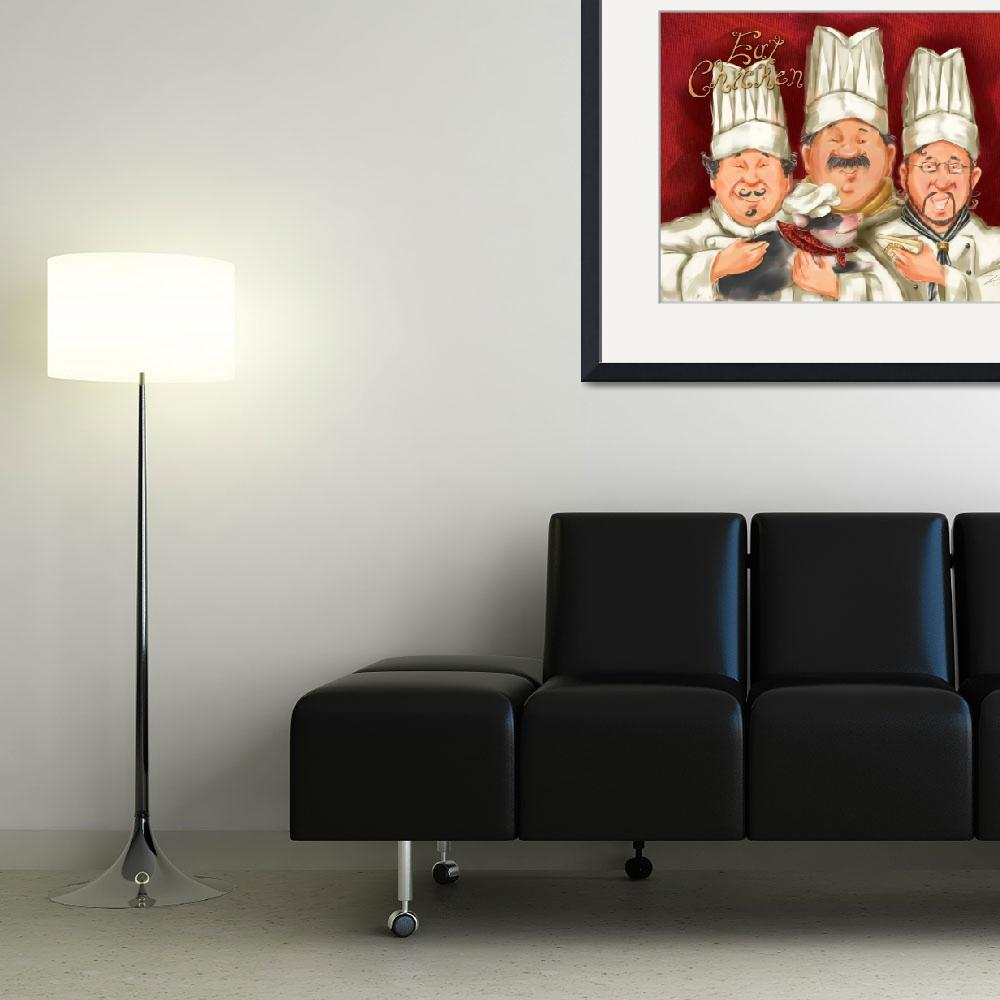 """""""Chefs with Piglet&quot  (2008) by shariwarren"""