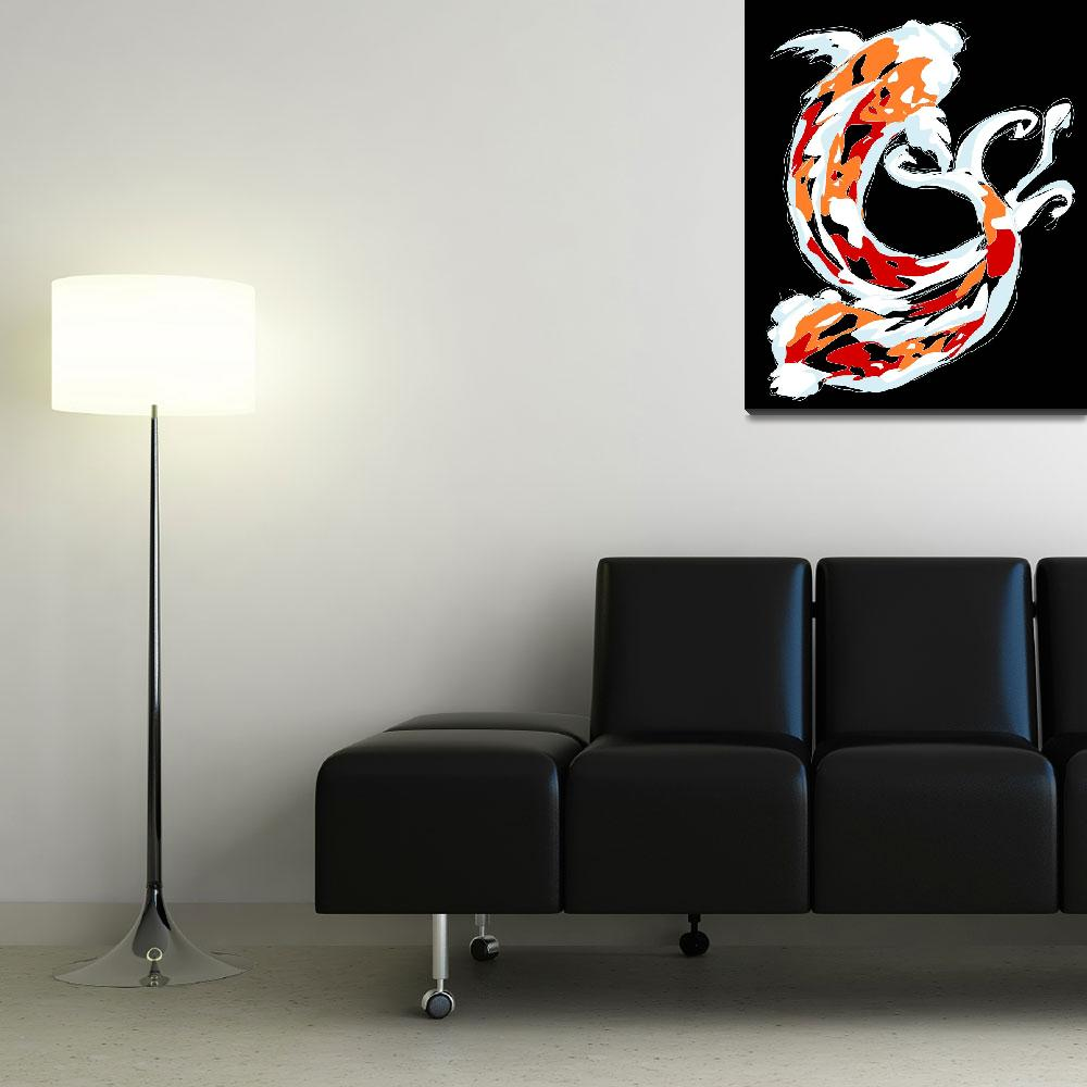 """""""2 Colorful Koi""""  (2008) by kristensteinfineart"""