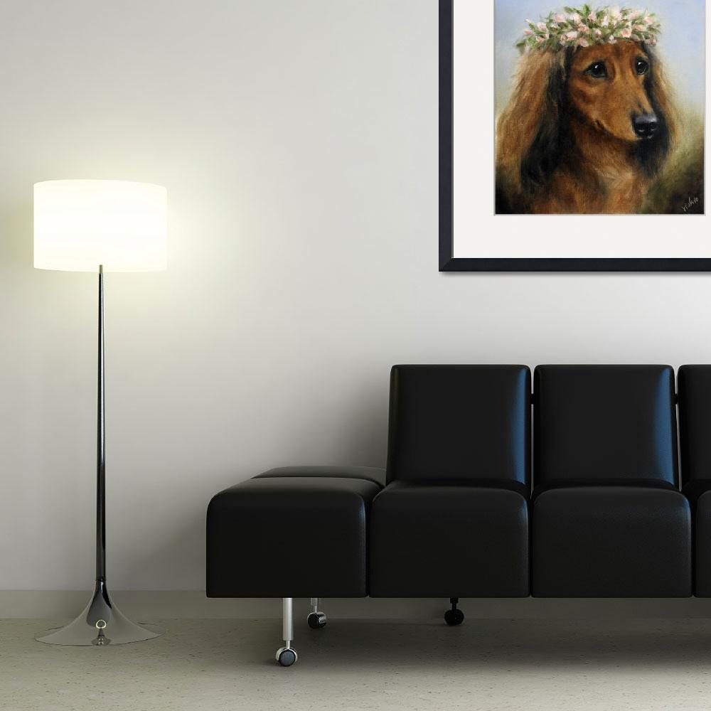 """""""Sweet Pea- flower child dog by Violano&quot  (2008) by stella"""