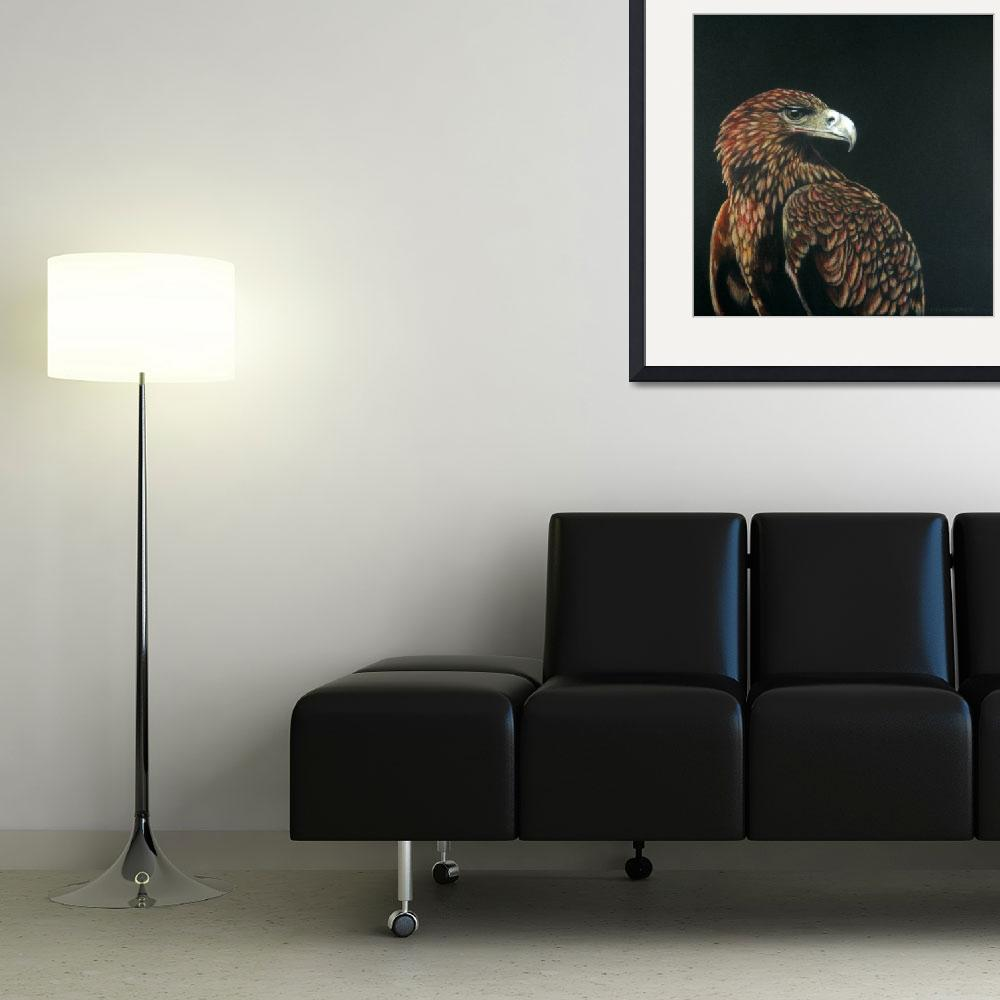 """""""Golden Eagle""""  (2009) by DonGriffithArt"""