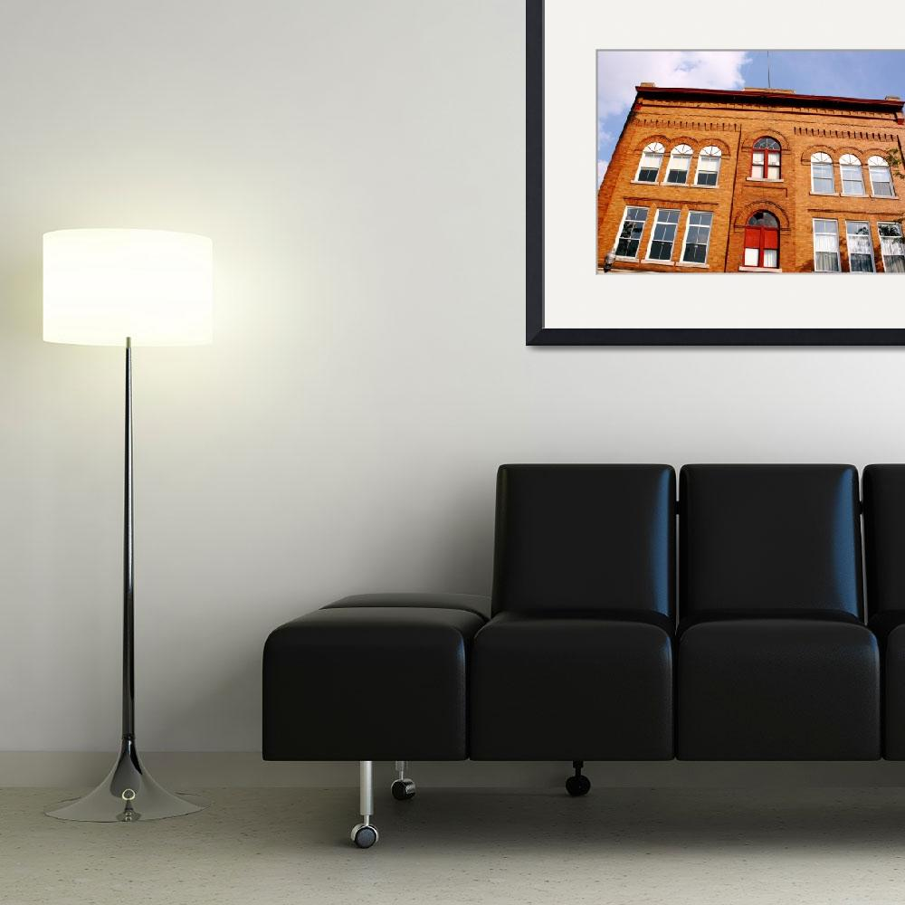 """""""Old Yellow Brick Office Building&quot  (2010) by fotobits"""