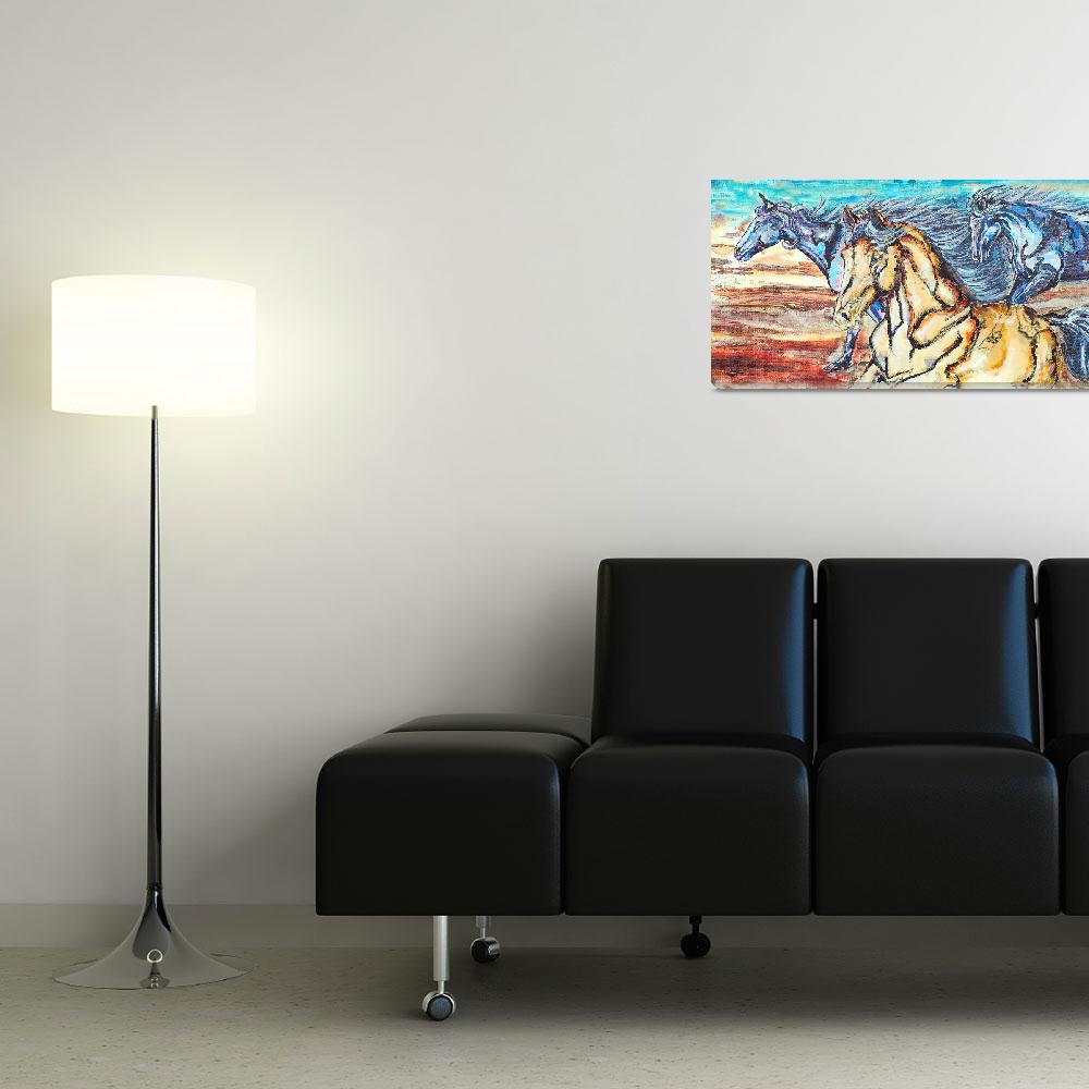 """""""Blue Herd""""  (2010) by westwindranchcreations"""