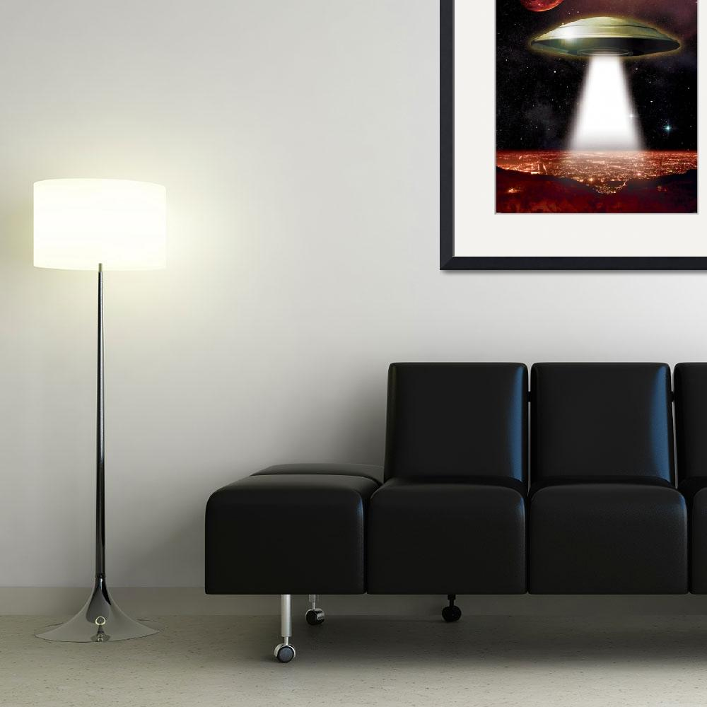 """""""UFO over City""""  (2011) by RHI"""