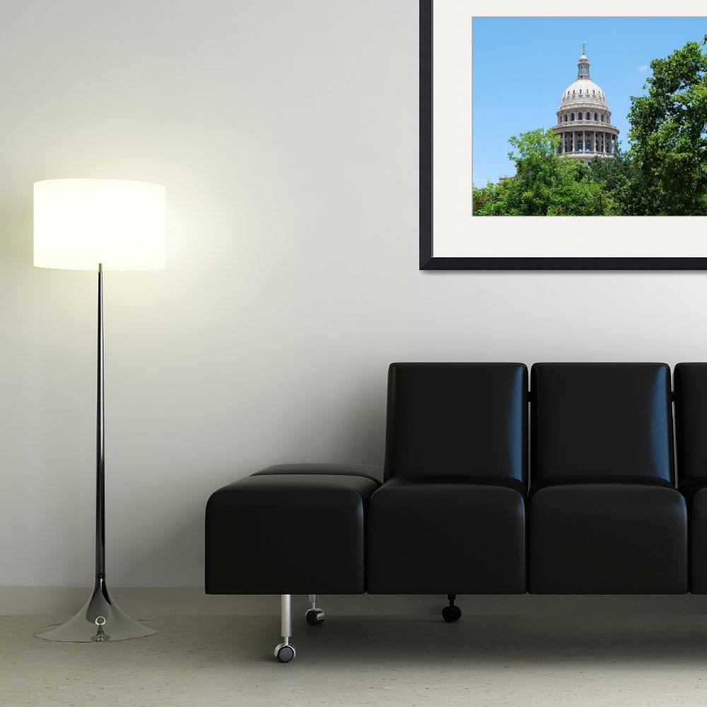 """Texas Capital VI (Dome from the outside)""  by Rmbartstudio"