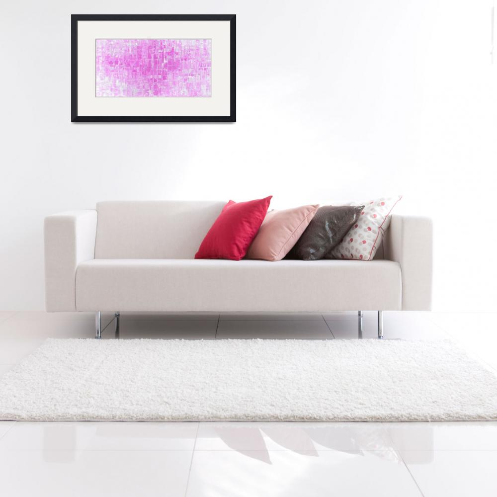"""Pink Abstract Art&quot  (2015) by modernhouseart"