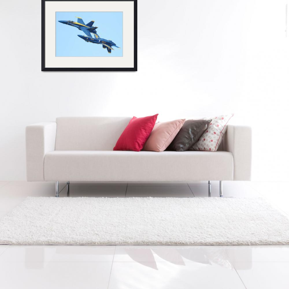 """""""Blue Angels Mirroring&quot  (2010) by wingsdomain"""