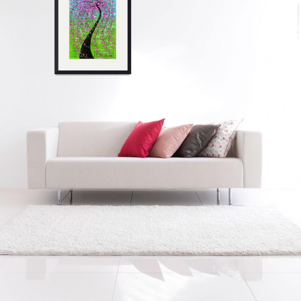 """Pink Cherry Blossom Tree""  (2009) by modernhouseart"