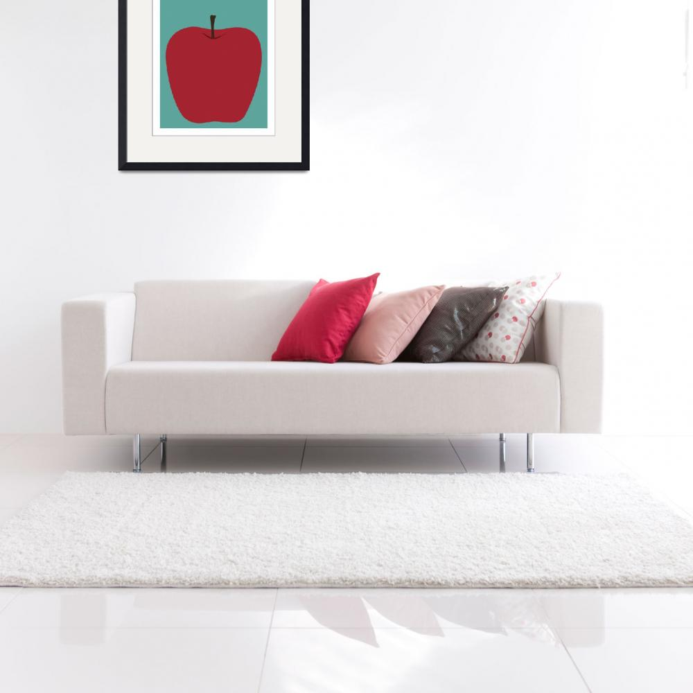 """""""State Posters - New York State Fruit: Apple&quot  by artlicensing"""