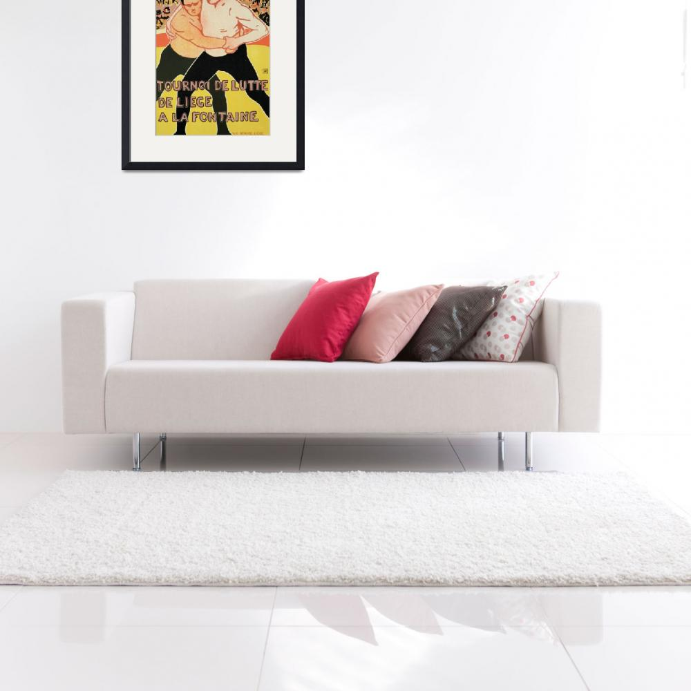 """""""Reproduction of a poster advertising a wrestling t""""  by fineartmasters"""
