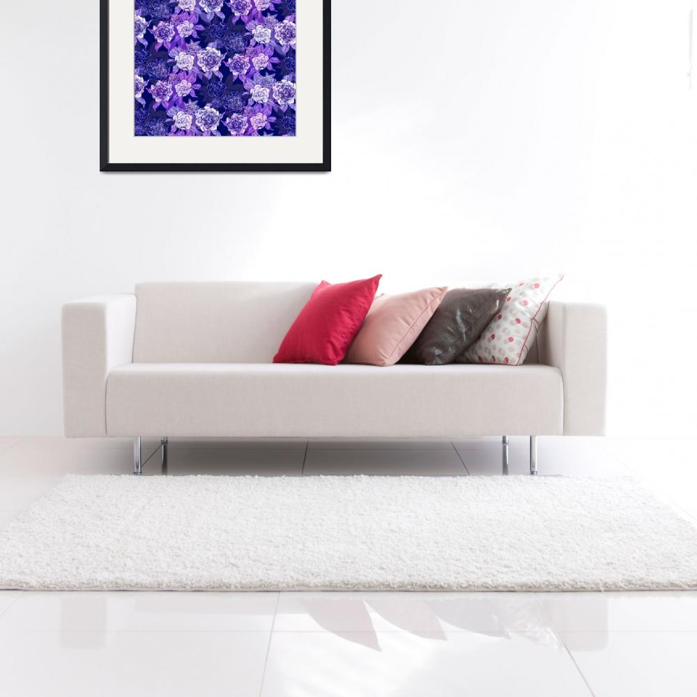 """""""Purple Peonies&quot  (2012) by MaryDolan"""