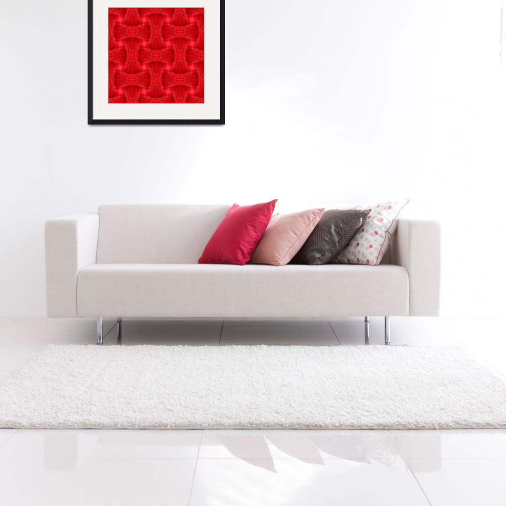 """""""Woven Red Frill&quot  by JaZilla"""