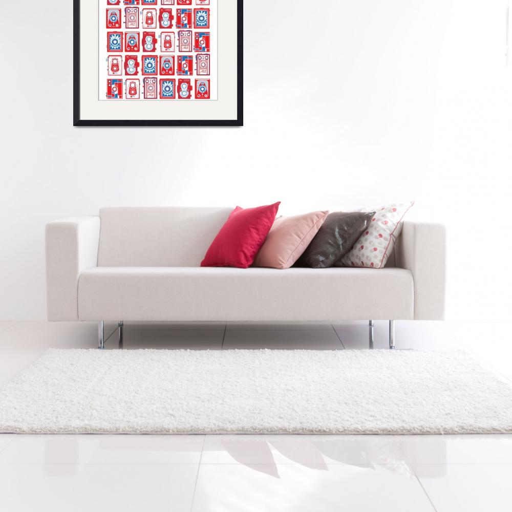 """""""TLRS RED AND BLUE S6 PILLOW""""  by malobi"""