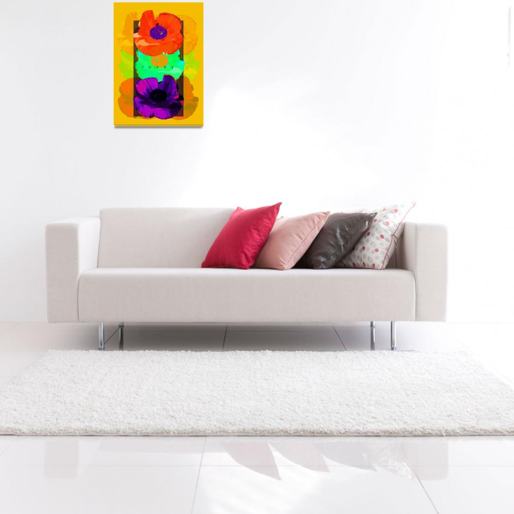 """""""Garden Poppy Poster""""  (2008) by eyecontact"""
