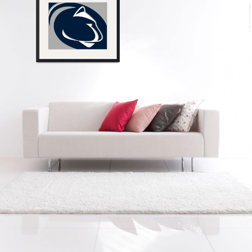 """""""Penn State Nittany Lions""""  (2018) by RubinoFineArt"""