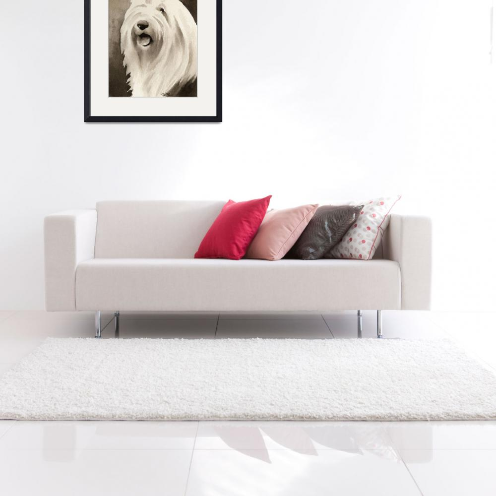 """""""Old English Sheepdog&quot  (2010) by k9artgallery"""