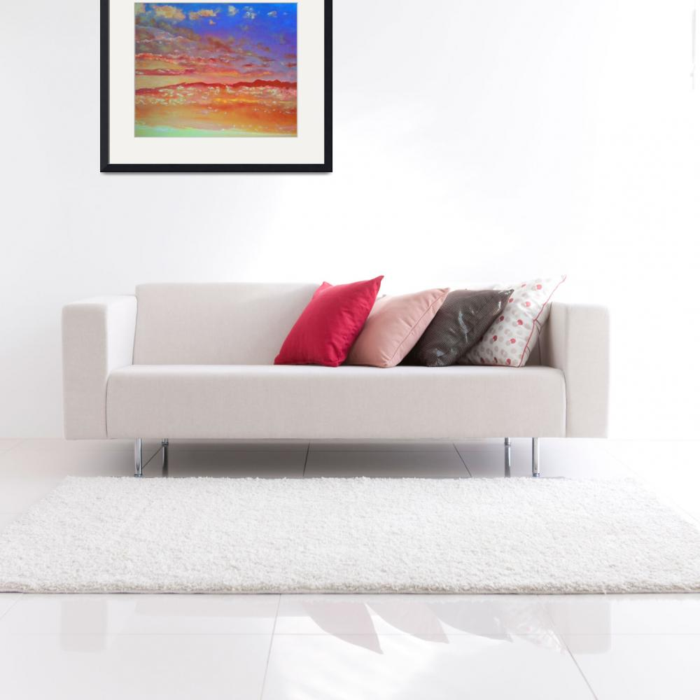 """""""Blue Orange and Pink Skyscape&quot  (2015) by RDRiccoboni"""