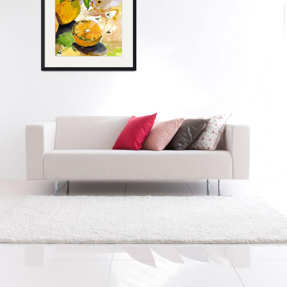 """""""Oranges and Bees Modern Decor&quot  by GinetteCallaway"""