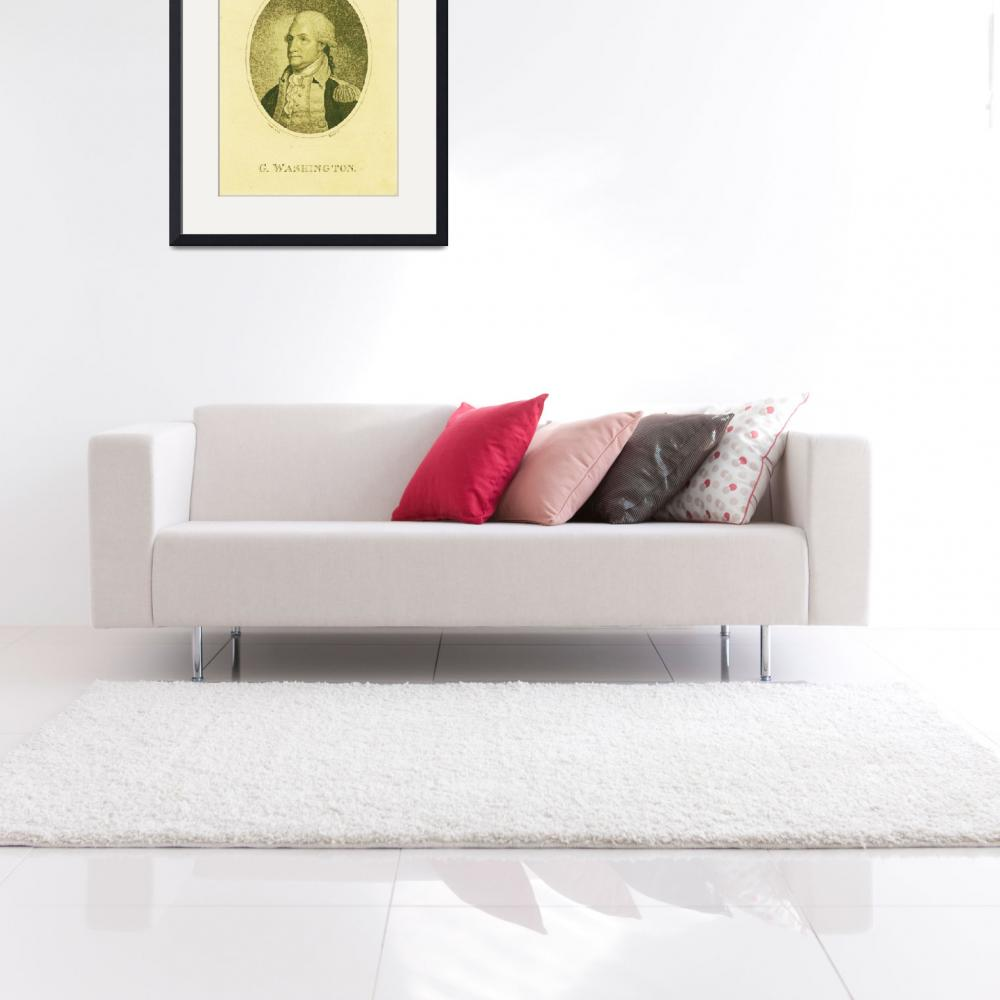"""""""Portrait of George Washington Poster 6&quot  by motionage"""