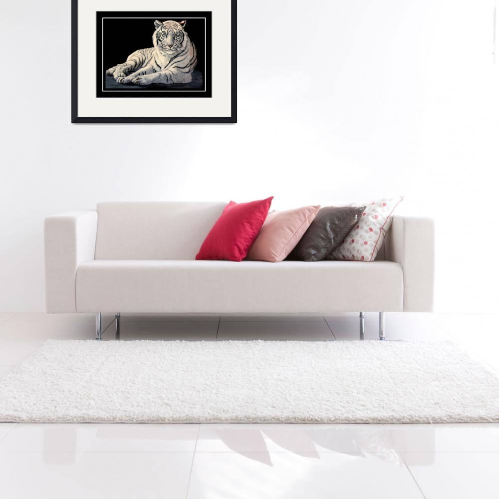 """""""The White Tiger    painting&quot  by AnimalsbyDiDi"""