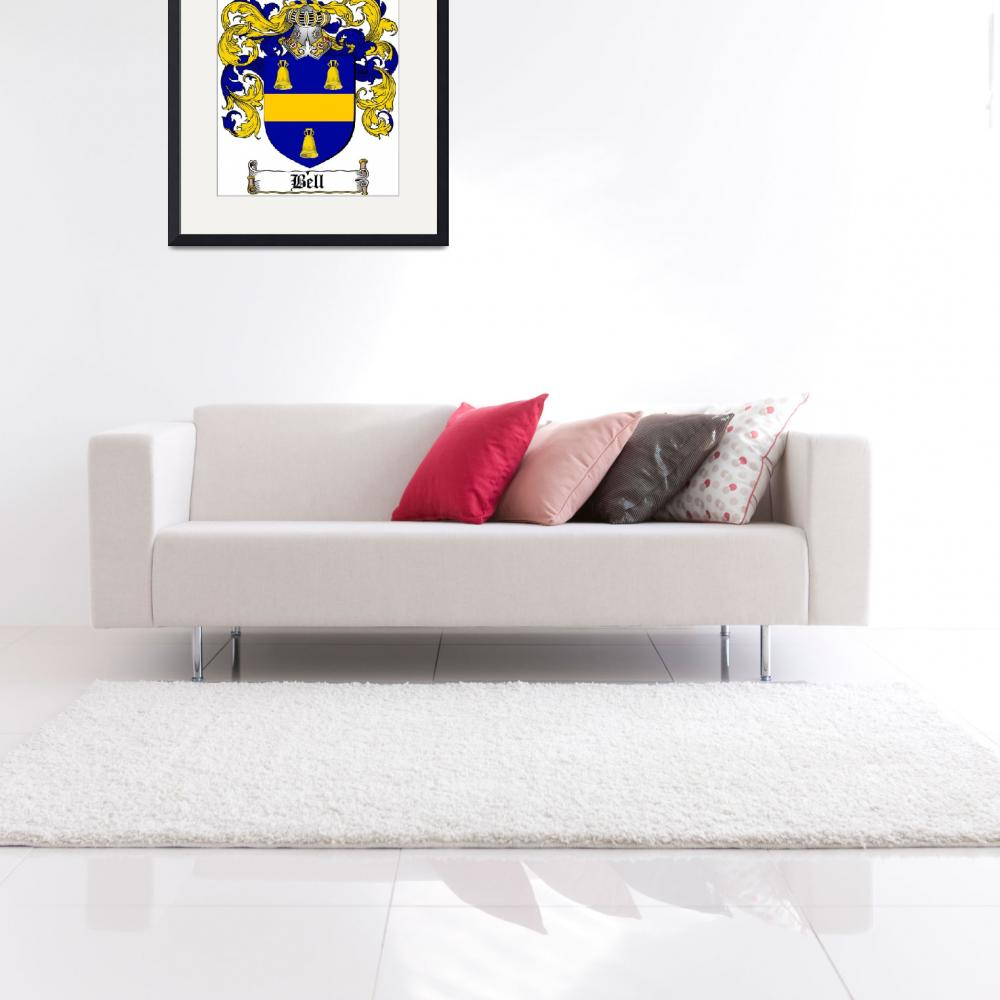 """BELL FAMILY CREST - COAT OF ARMS&quot  by coatofarms"