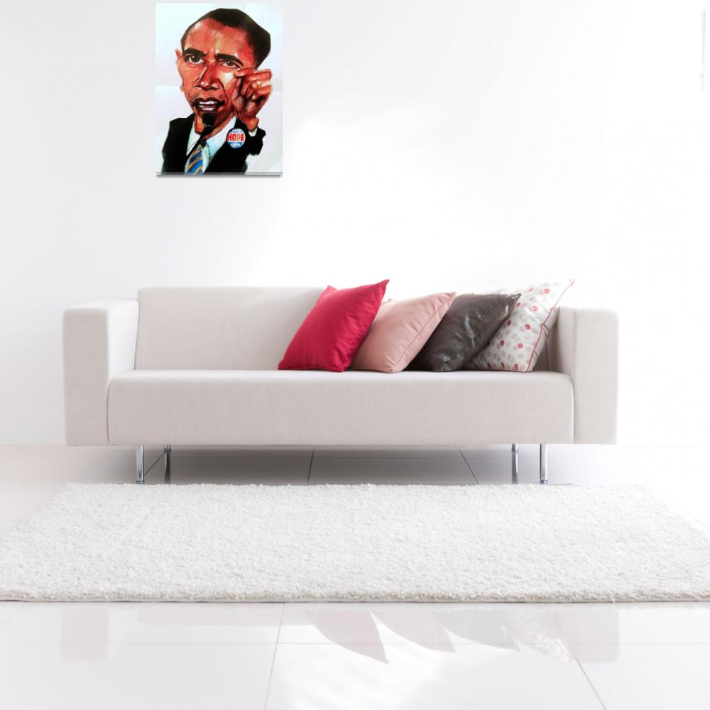 """""""Obama caricature&quot  (2008) by Greggdegroat"""