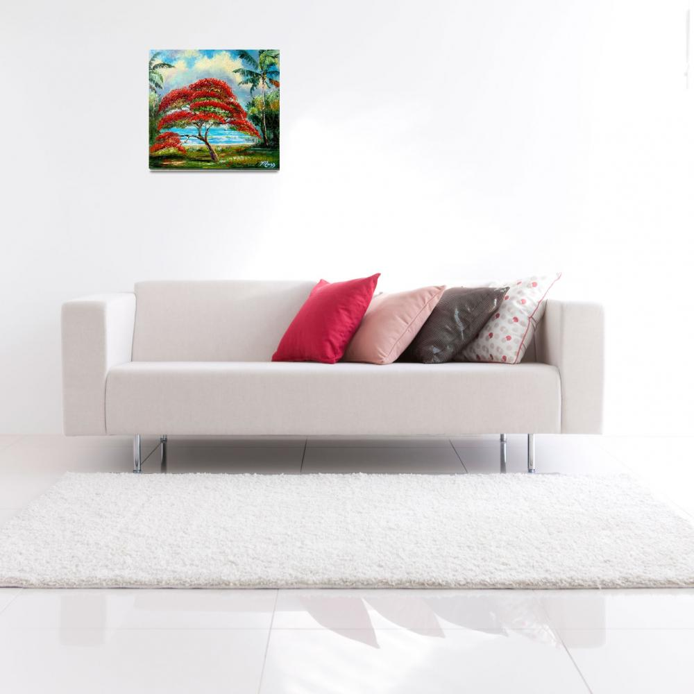 """""""Royal Poinciana Painting""""  (2008) by mazz"""