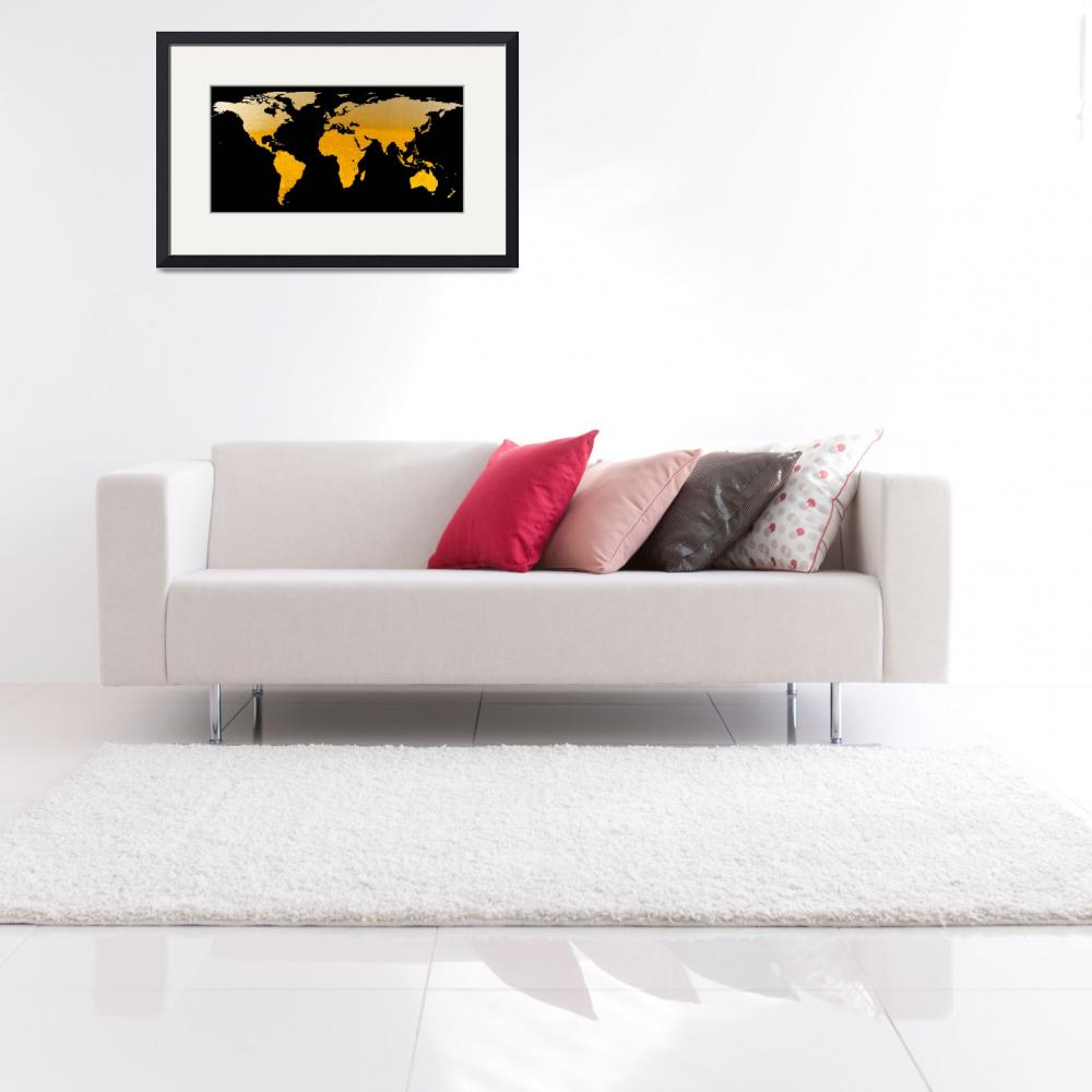 """""""World Map Silhouette - Beer""""  by Alleycatshirts"""