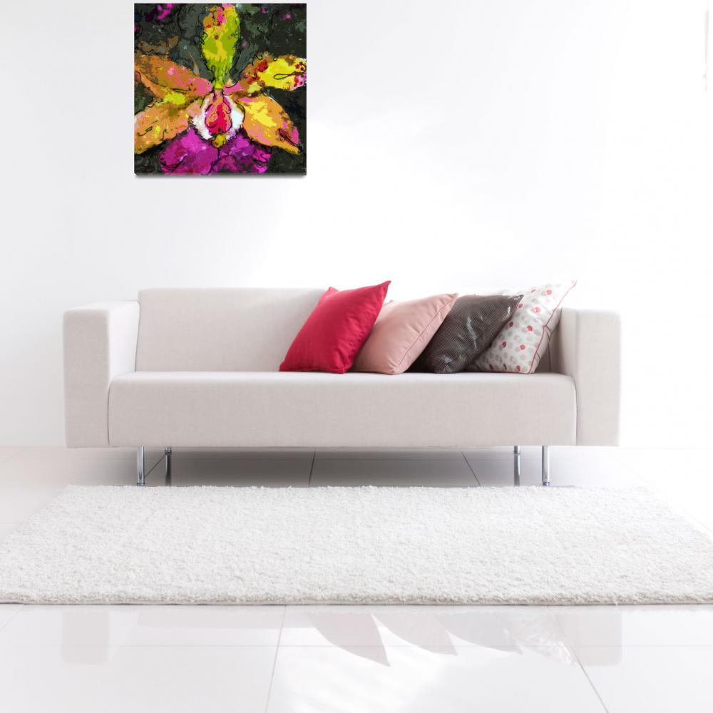 """""""Orchid Modern Expressive Art&quot  (2014) by GinetteCallaway"""