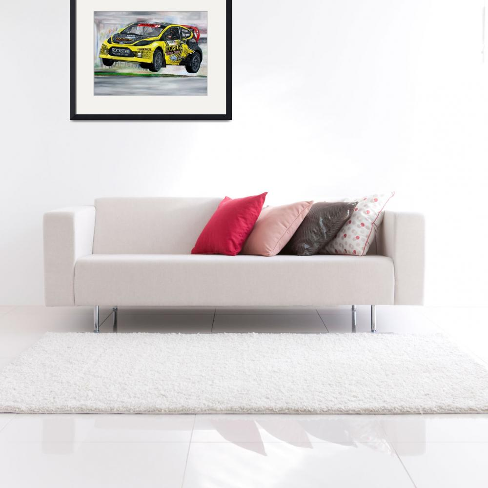 """""""Tanner Foust RallyCross&quot  by iconicarts"""