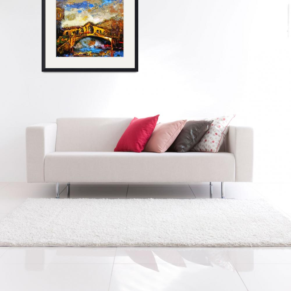 """""""Abstract Venice Rialto Bridge Italy Modern Decorat&quot  (2012) by GinetteCallaway"""