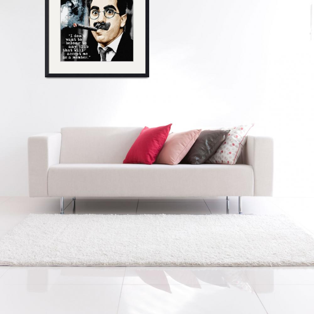 """Groucho Marx And Quote Square""  by RubinoFineArt"