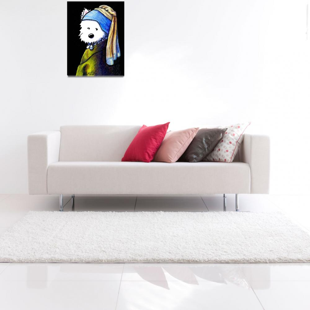 """KiniArt Girl With A Pearl Earring""  (2007) by KiniArt"