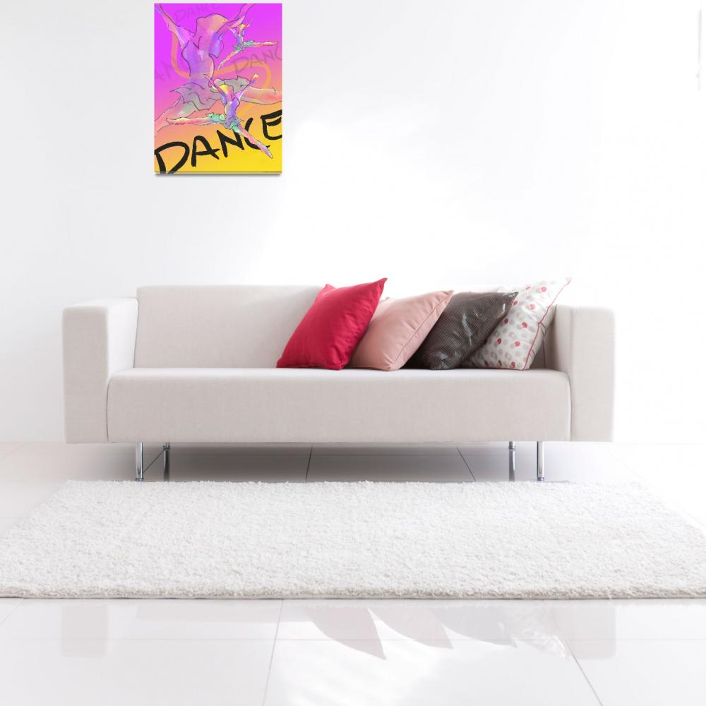 """Dance Poster 1&quot  (2004) by CrystalCarey"
