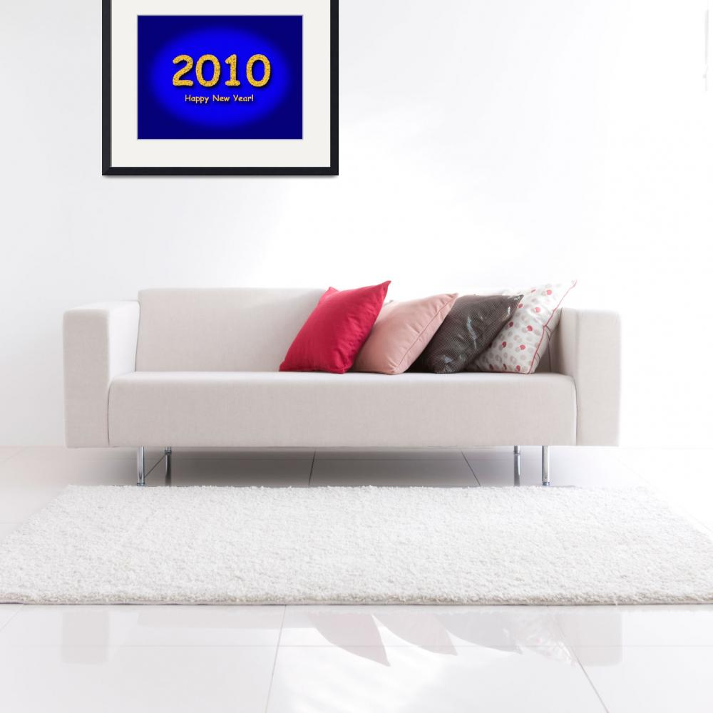 """2010 Happy New Year Blue&quot  (2009) by hlehnerer"