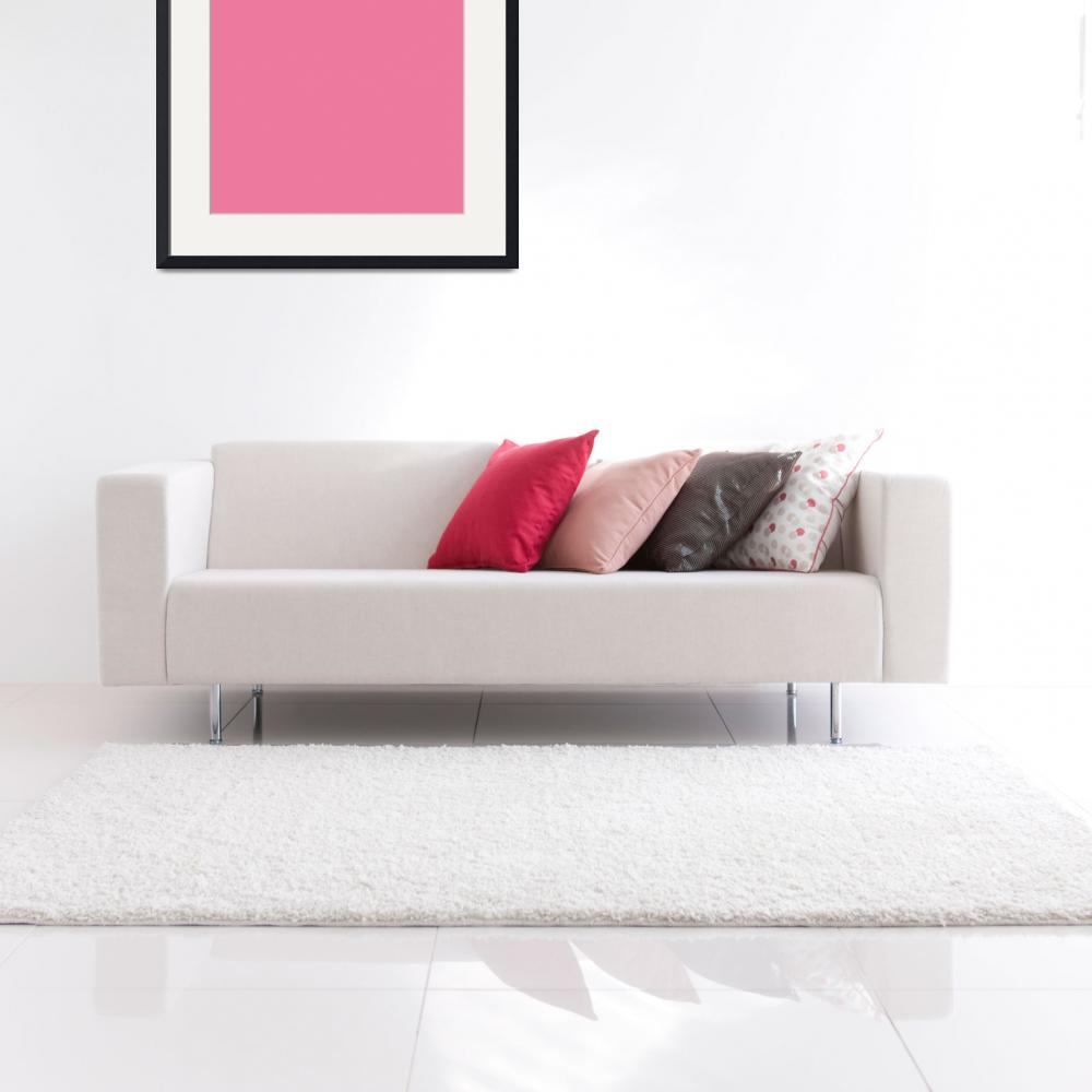 """""""Square PMS-204 HEX-ED7A9E Pink Magenta Red&quot  (2010) by Ricardos"""