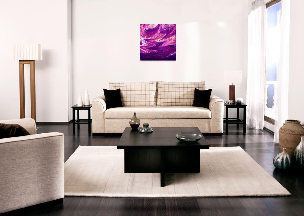 """Purple Reflections Abstract Painting&quot  (2015) by IrinaSztukowski"