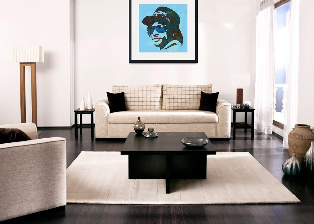 """eazy - e pop art sketch poster&quot  (2014) by visualharbour"