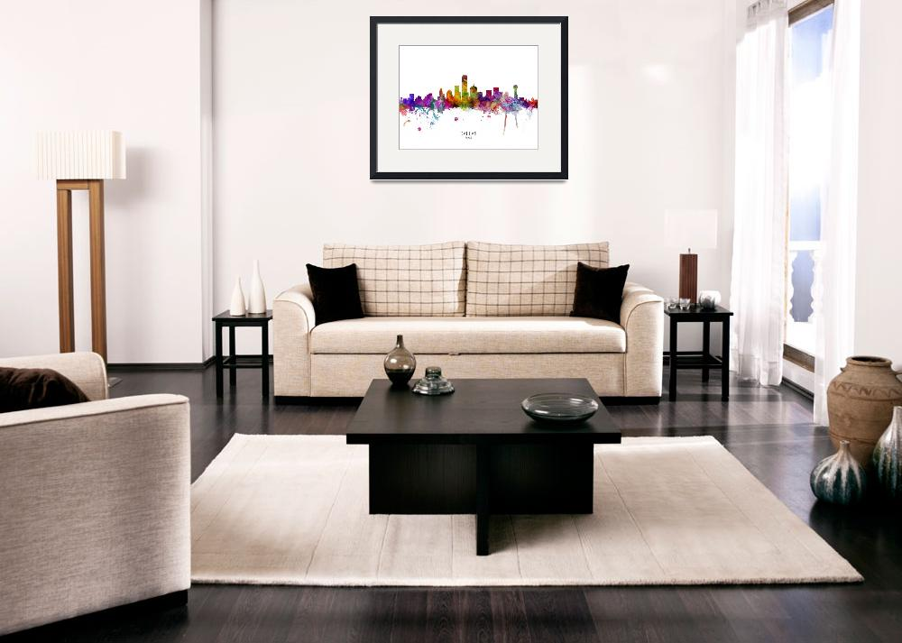 """Dallas Texas Skyline""  (2019) by ModernArtPrints"