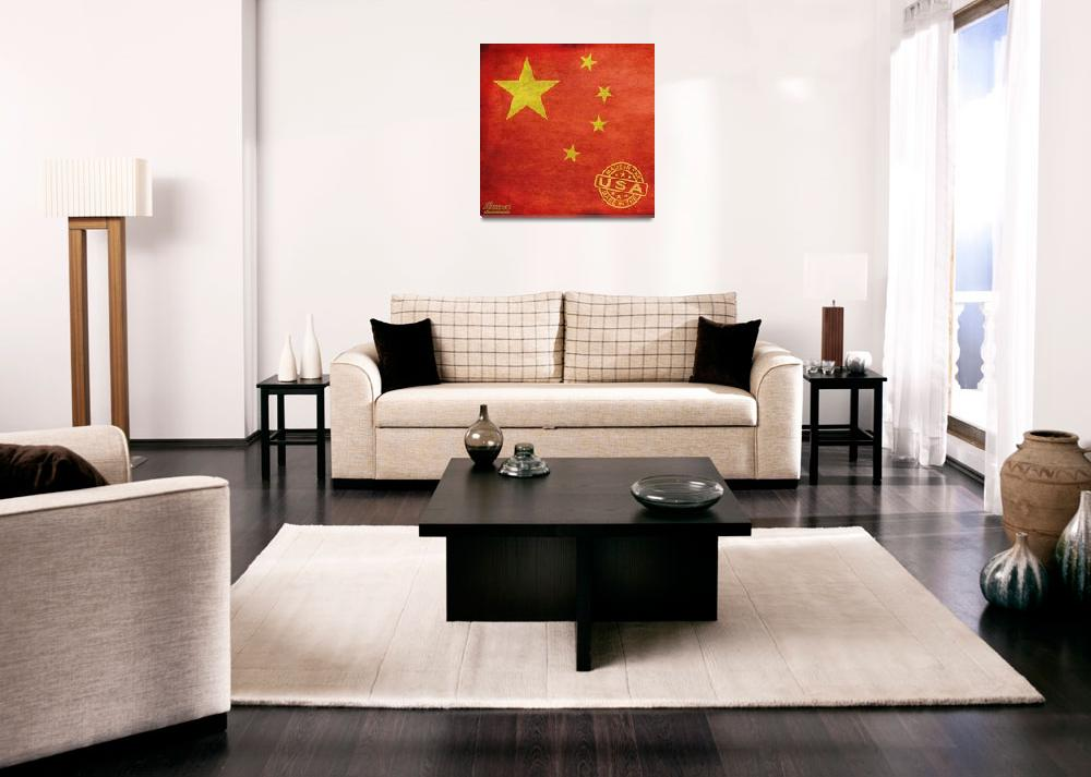 """China Flag Made In The USA""  (2013) by RubinoFineArt"