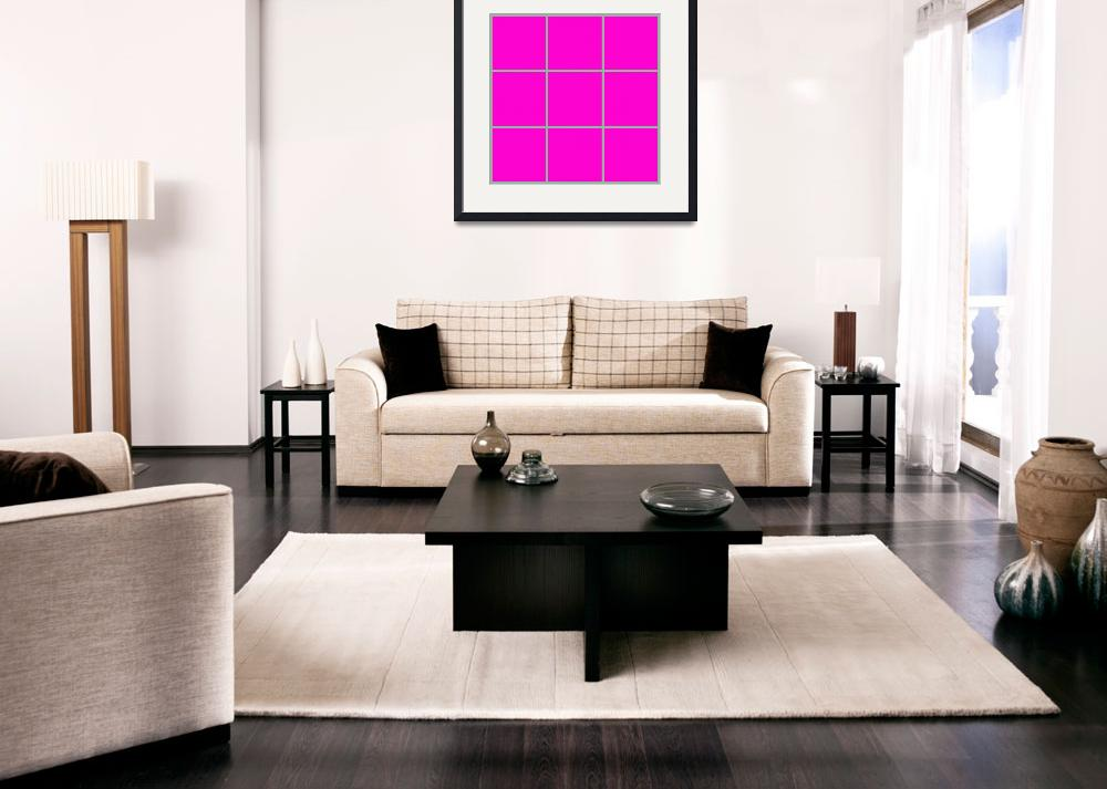 """""""Pink Window 185 Canvas Contemporary Modern&quot  (2010) by Ricardos"""
