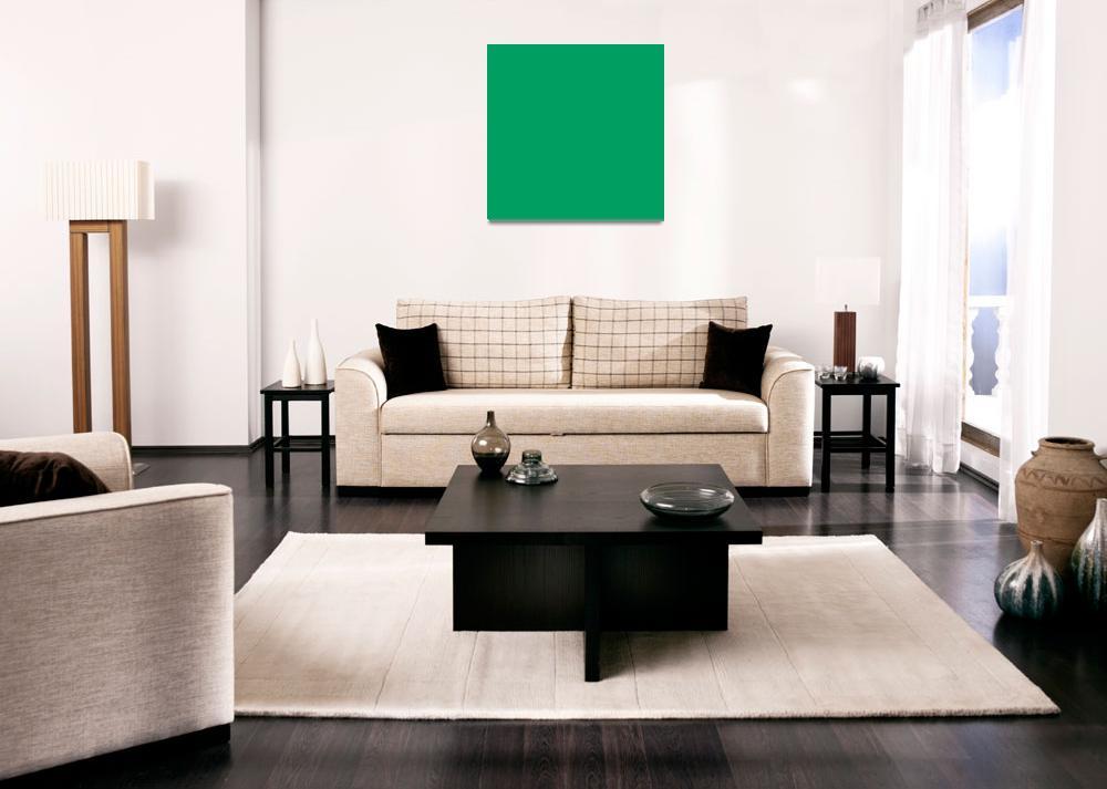 """Square PMS-347 HEX-009E60 Green""  (2010) by Ricardos"