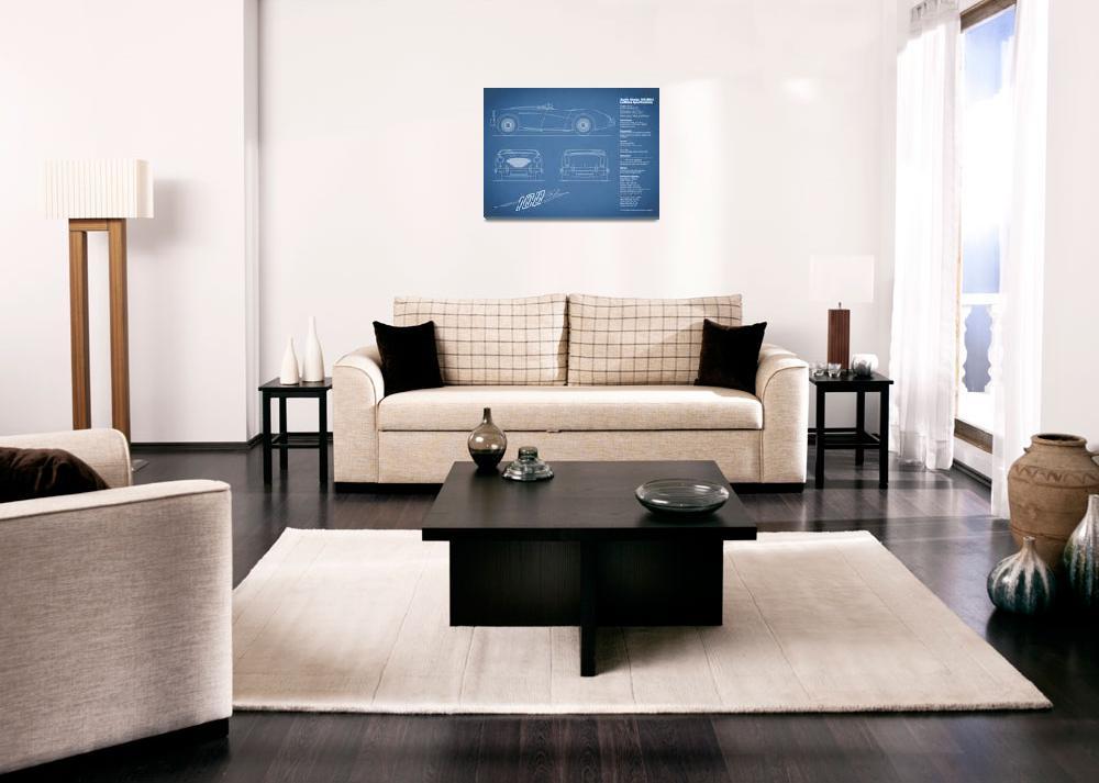 """Austin-Healey 100 Blueprint&quot  (2015) by mark-rogan"
