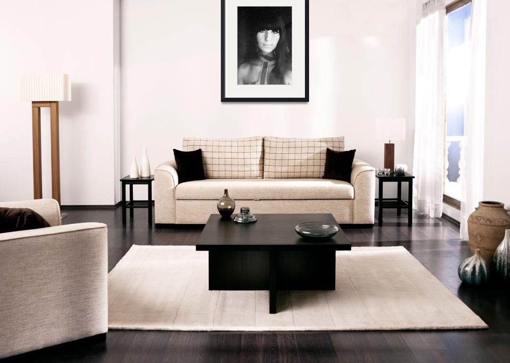 """""""Cher Charcoal 1967&quot  (1981) by DSchellack"""
