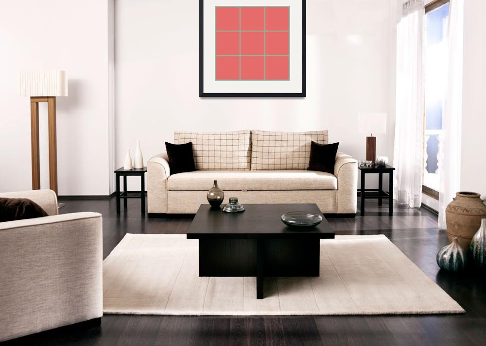 """Red Window 128 Canvas Contemporary Modern&quot  (2010) by Ricardos"